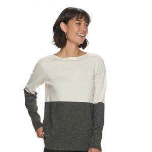 🆕️ Apt 9 Lurex Shirt tail Hem Pullover Sweater